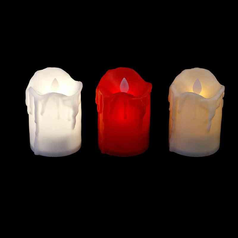 Multicolor- Led Candle Lamp, Simulation Color Flame, Flashing Tea Light