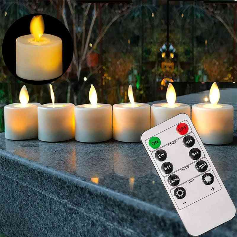 6-remote & Not Remote- Led Warm Flameless Candle