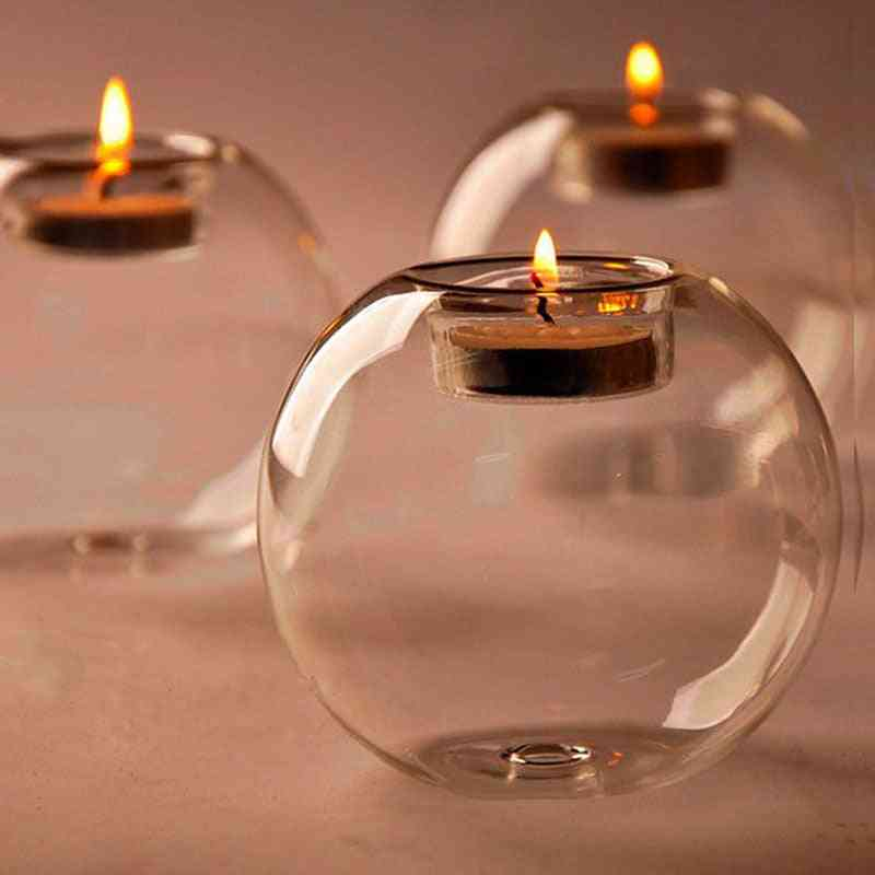 Classic Crystal, Glass Candle Holder, Table Candlestick