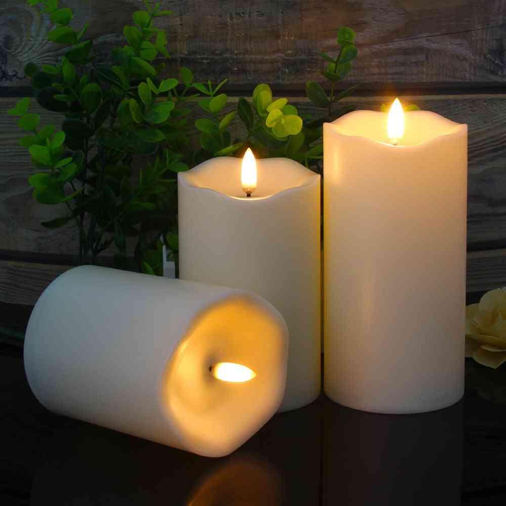 3pcs- Remote Control, Led Flameless, Candle Light
