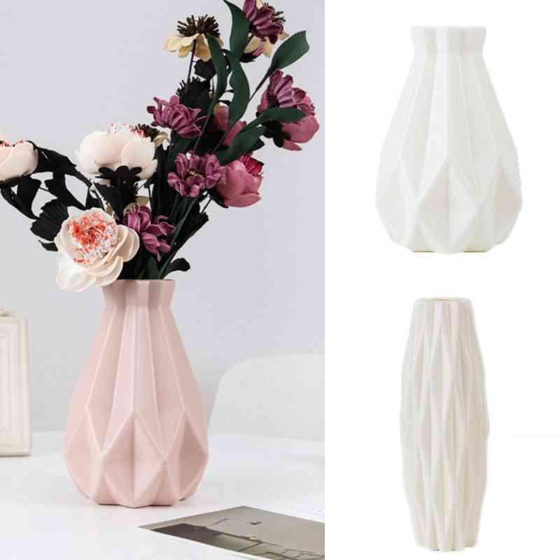 Plastic Imitation Ceramic Flower Vase Decoration