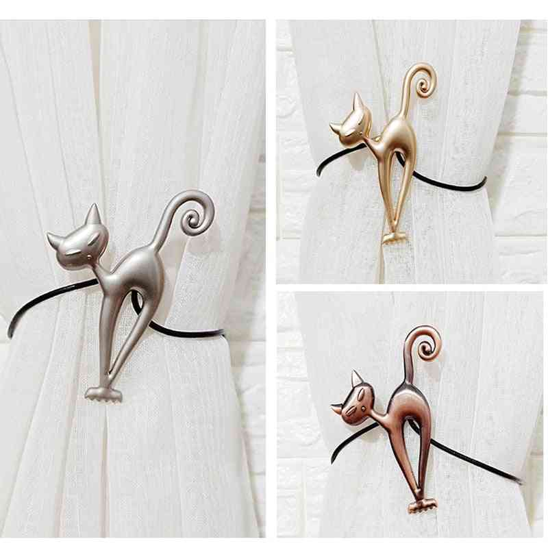 Cat Shape Strong Curtain Tiebacks Alloy Hanging Belts