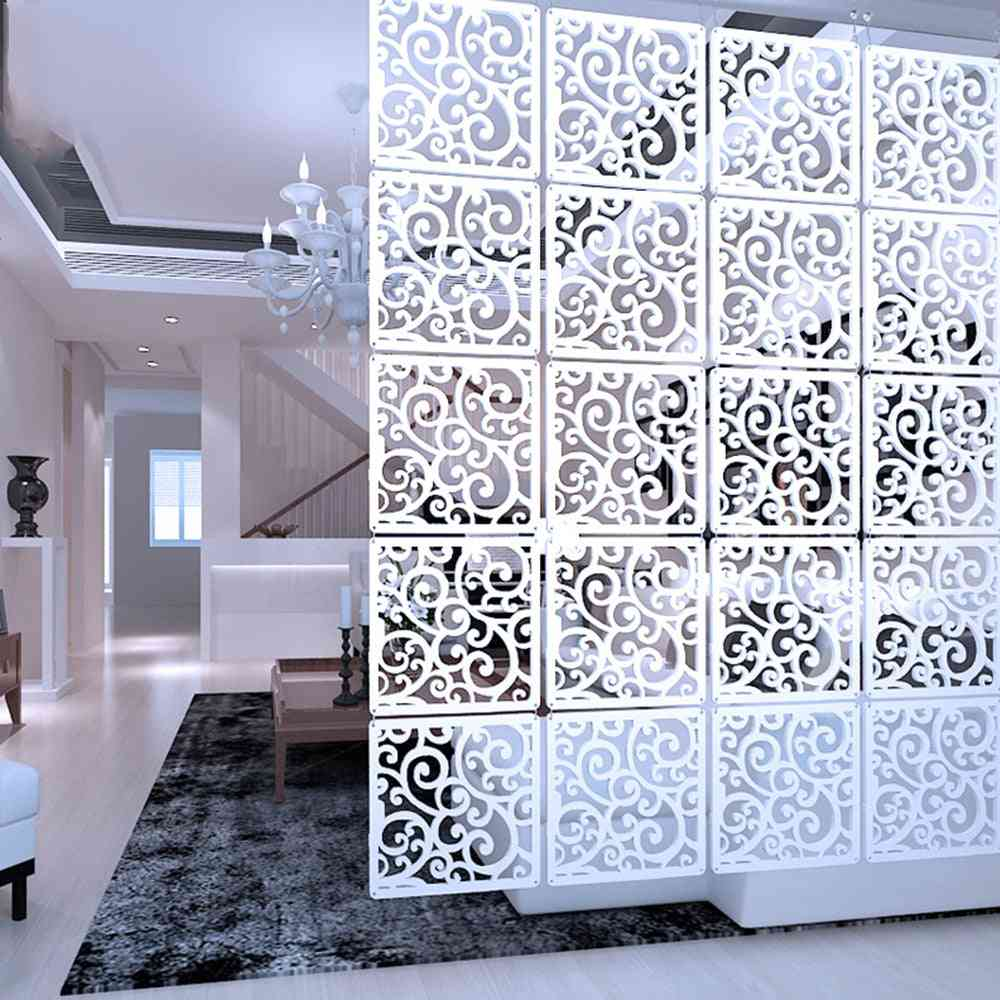 Hanging Screens Living Room Partition Wall Wood Plastic Yarn