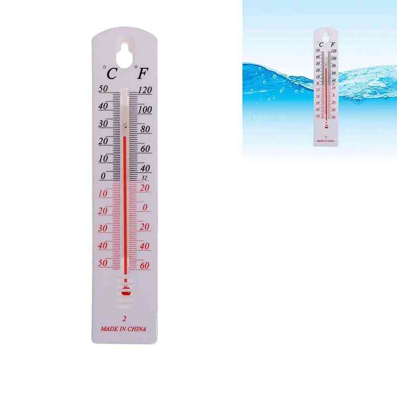 Vertical Thermometer- Wall Temperature Gauge Monitor, Home Indoor, Outdoor Hygrometer