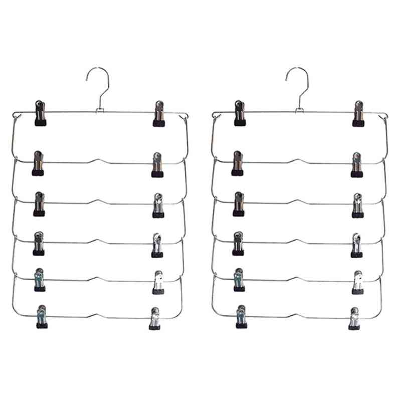 6 Layers Pants Skirt Clothes Hanger