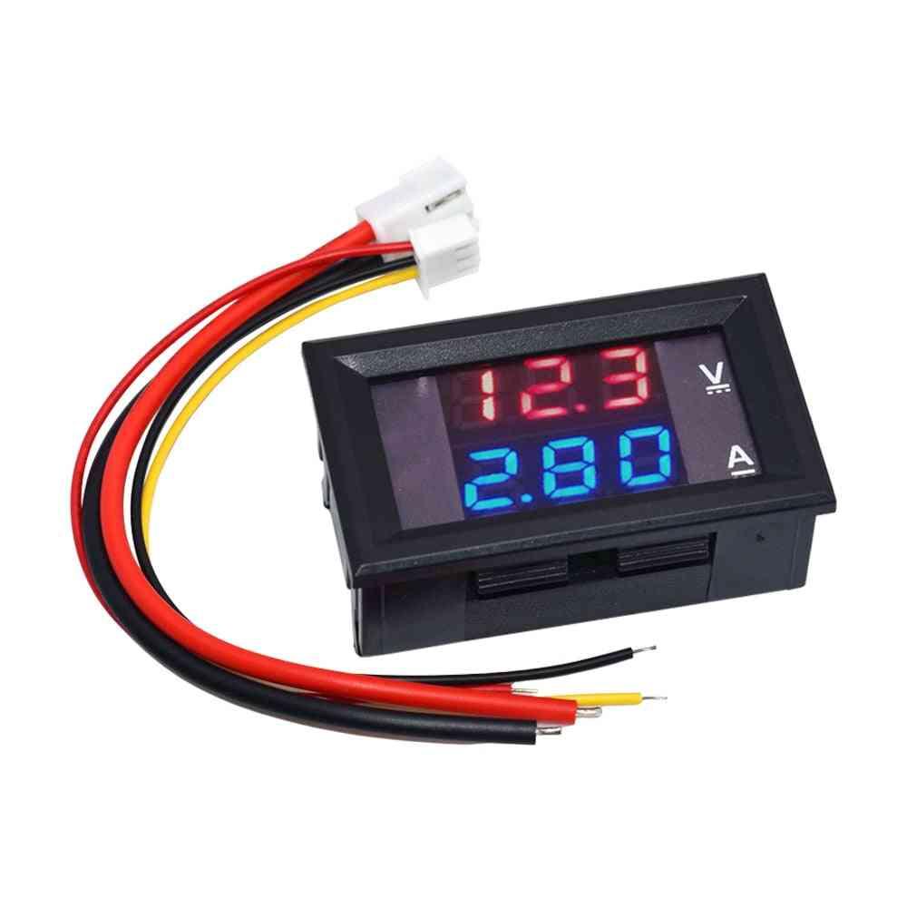 Dc 0-100v 10a, Digital Voltmeter Ammeter, Dual Display Voltage Detector Current Meter Panel