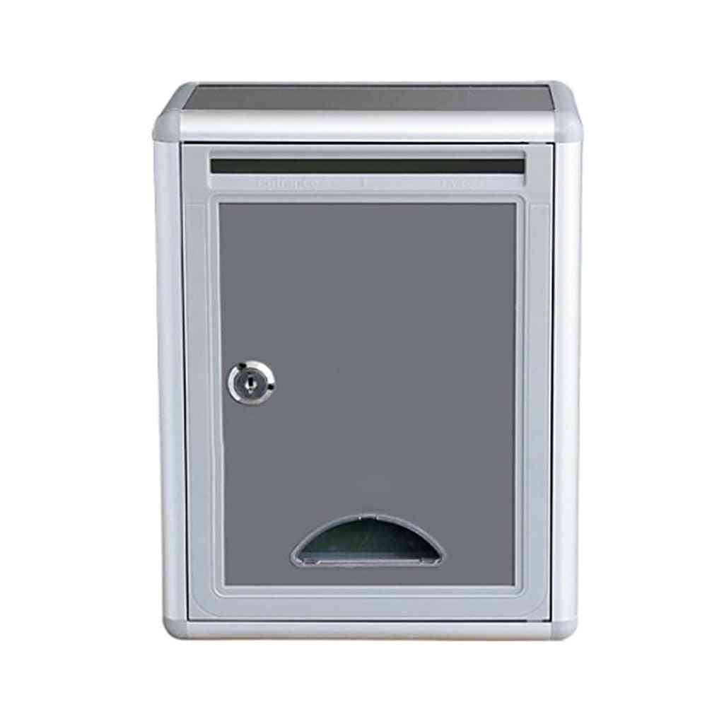 Lockable Mailbox, Outside Fence Mounted Letter Box