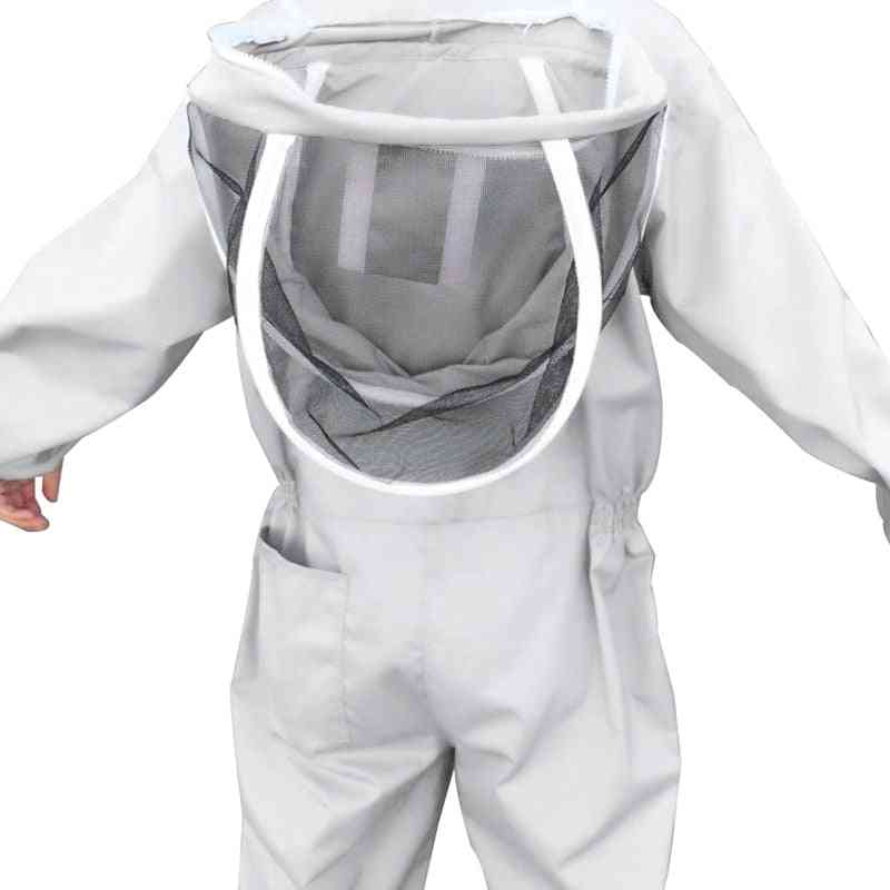 Professional Beekeepers Bee Protection Suit, Safety Veil Hat Dress
