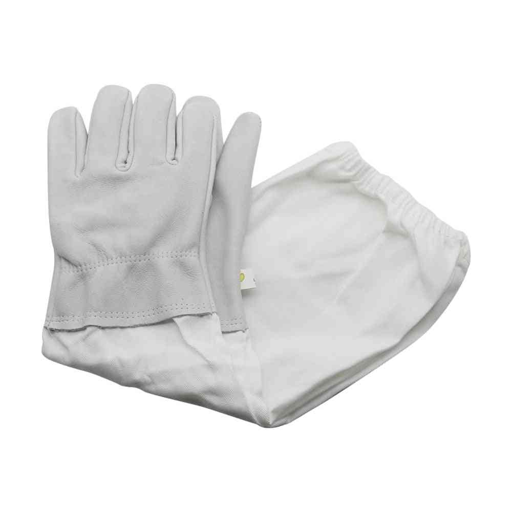 Beekeeping Sheepskin Gloves, Anti-b Anti-sting For Beekeeper Tools