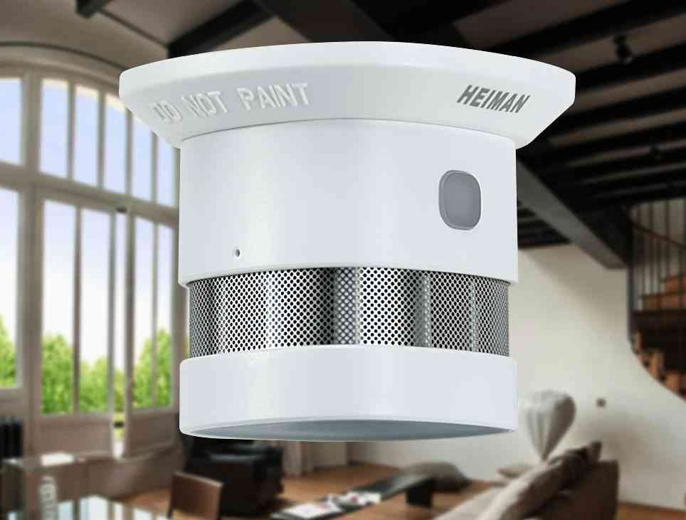 Smoke Detector Fire Protection Alarm, Wireless Sensor For Smart Home Security