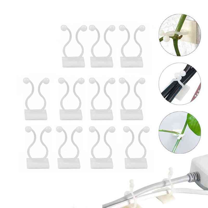 Invisible Wall Vines Fixture Sticky Hooks Plant Fixer Climbing Clip