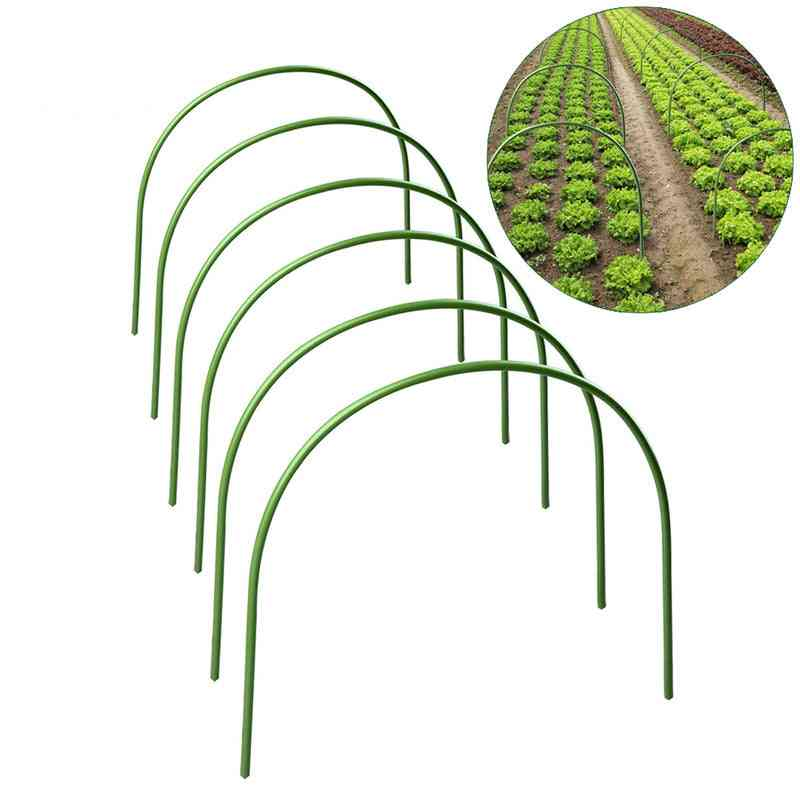 Greenhouse Plant Hoop, Grow Garden Tunnel Support Hoops, Holder Tools For Stakes Farm Agriculture