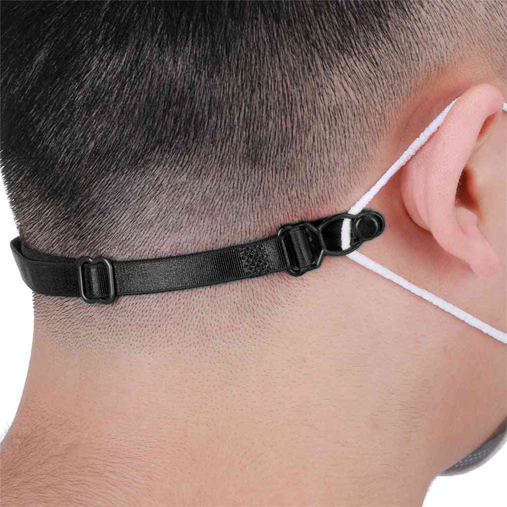 Ear Pain Prevention Artifact Mask Cord Extension, Buckle Adjustable Hook