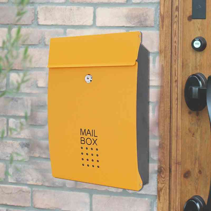 Stainless Steel Wall-mounted Letter Box Outdoor With Lock