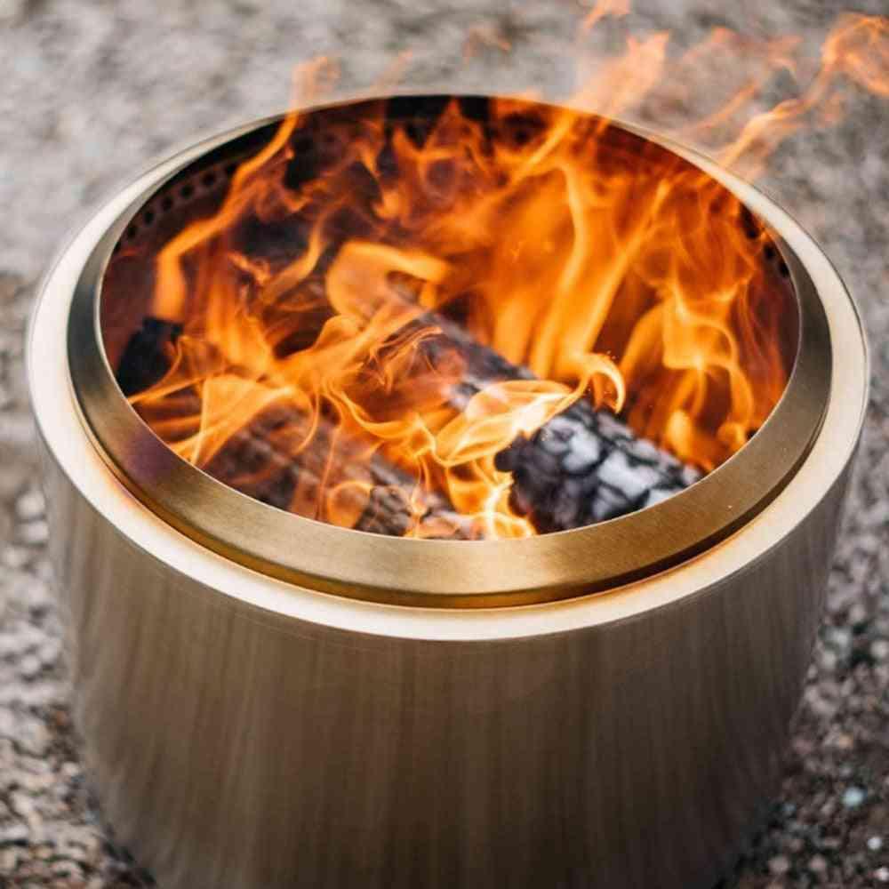 Winter Portable- Heating Bonfire & Smokeless Fire Pit, Lightweight Grill Stove