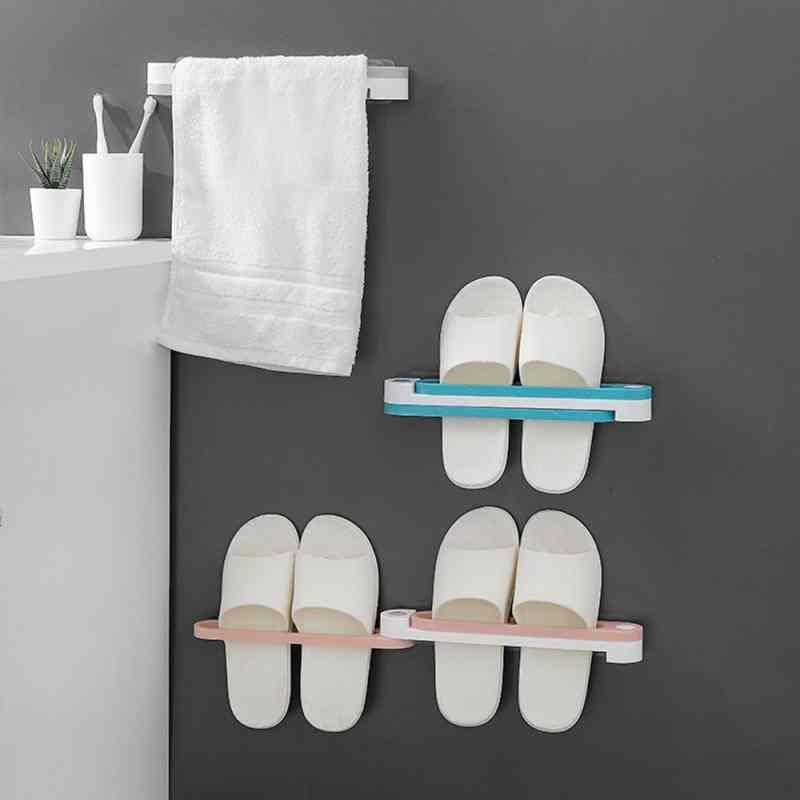 Bathroom Slippers Organizer Rack, Wall Mounted