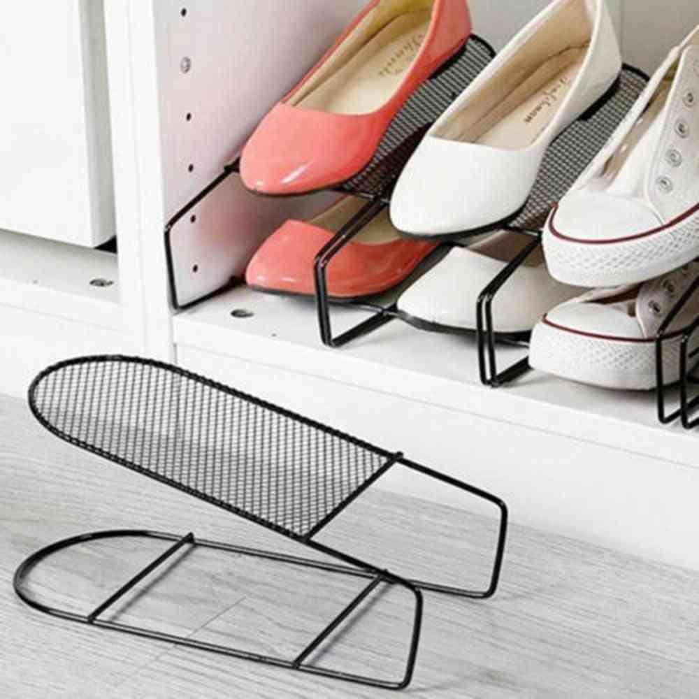 Double-layers Modern Shoe Rack, Storage Stand Shelf
