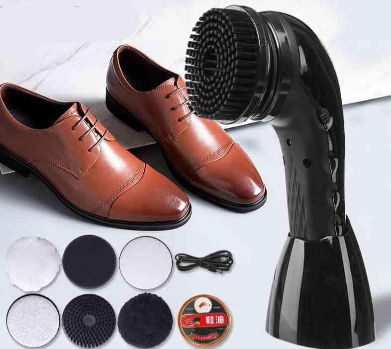 Electric Shoe Polisher Automatic Shoes Polishing Cleaning Machine Brush
