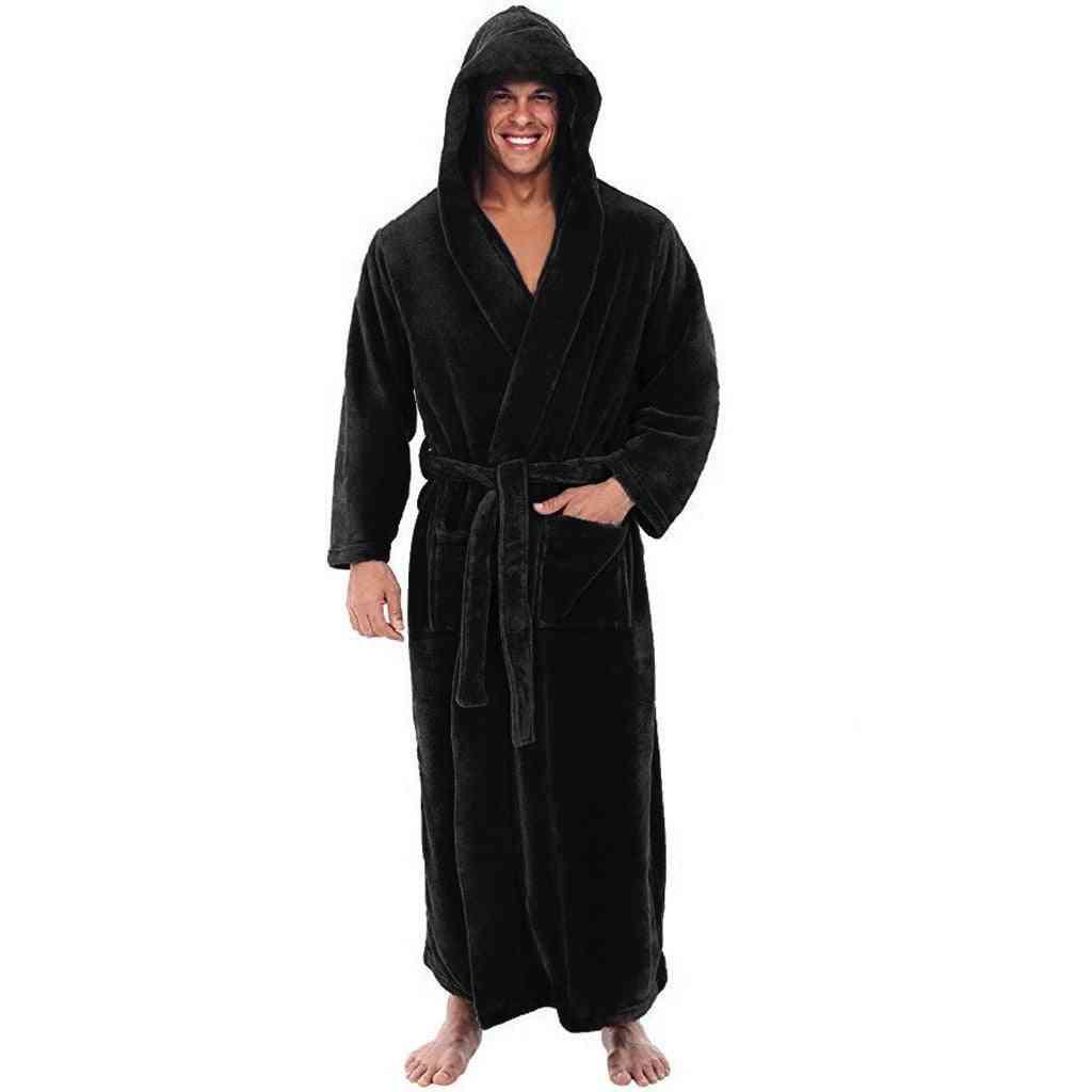Winter Lengthened Shawl Lounge, Sleepwear,  Men Nightgown-set 2