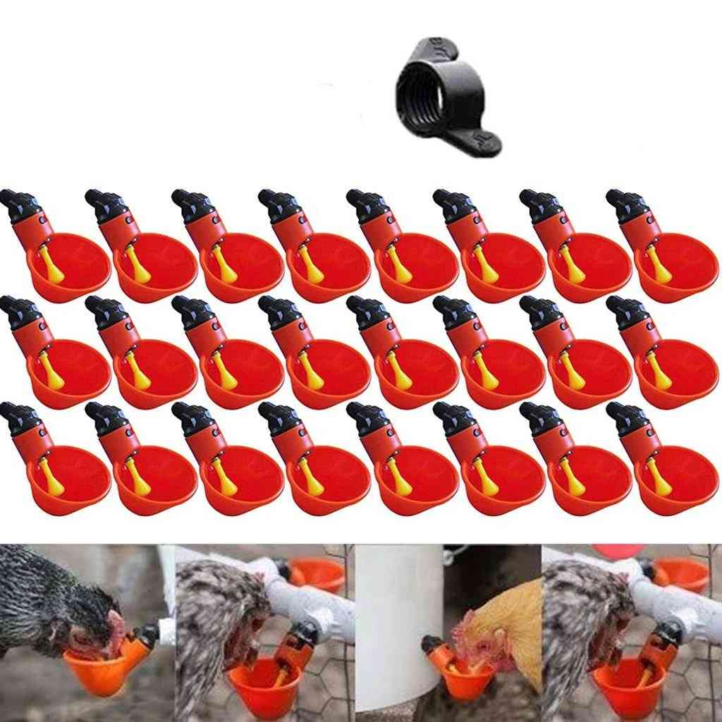 Feed Automatic Bird Coop Poultry Chicken Fowl, Drinking Cups