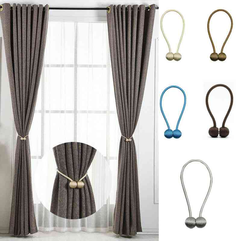 Newest Magnetic Pearl Ball Tiebacks Curtain Buckles