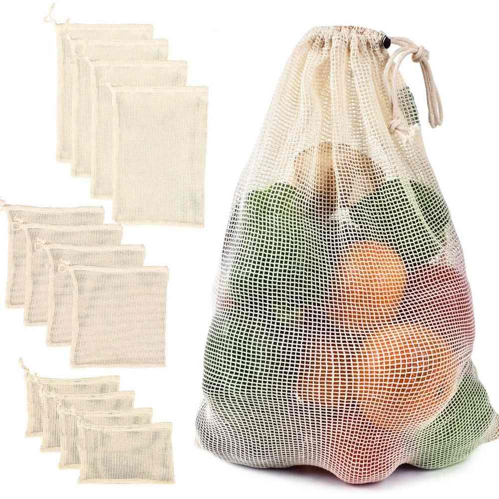 Cotton Mesh Vegetable Storage Bag