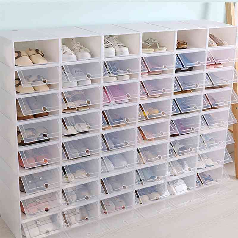 Thickened Transparent Drawer Case, Plastic Shoe Boxes