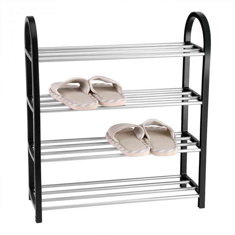 Aluminum Metal Standing Shoe Rack, Storage Shelf