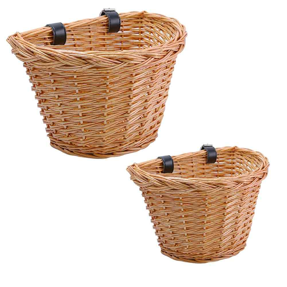 Waterproof- Front Food Basket Storage With Fixed Strap, Bike Cargo