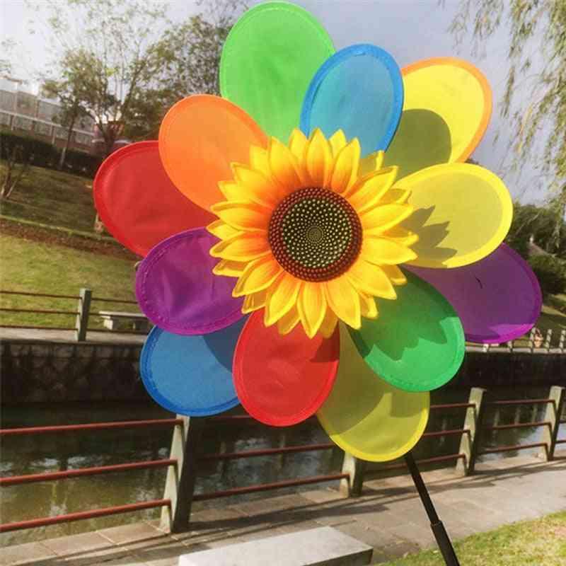 Sunflower Wind Spinner Garden Decor Yard