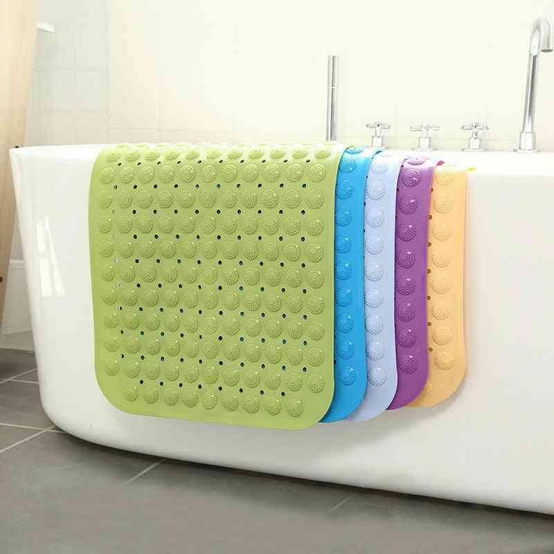 Large Strong Suction Bathroom Mat, Anti Slip Pvc Massage Particles Foot Pad