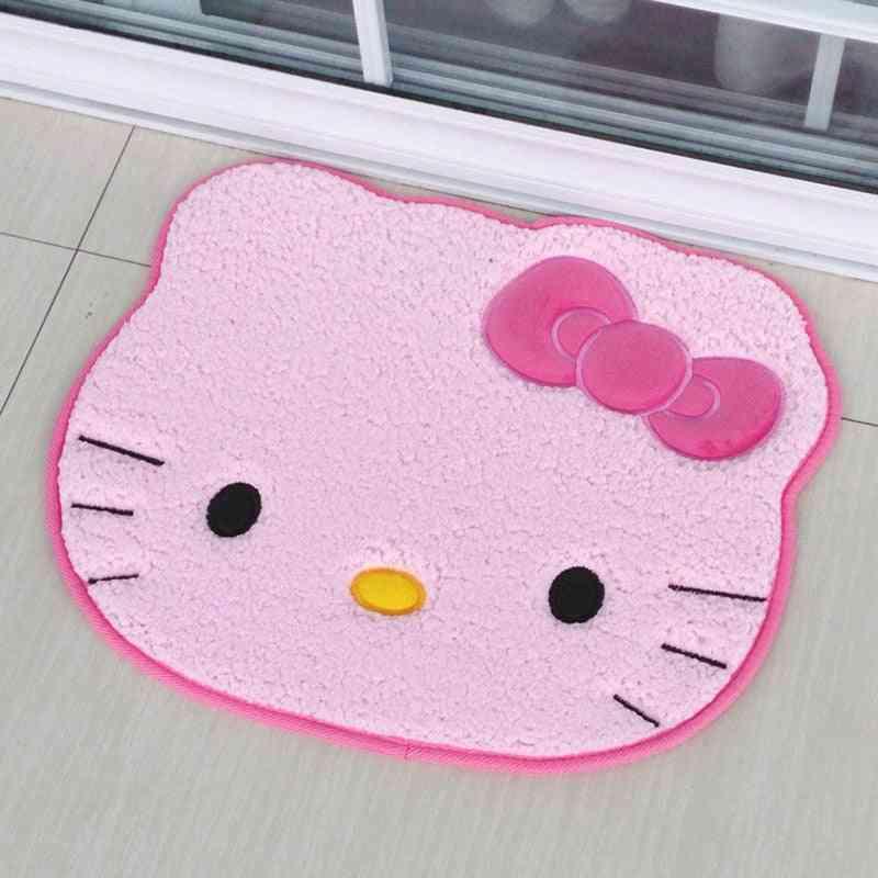 Cat Imitation Lambswool Cartoon Carpet / Door Mats
