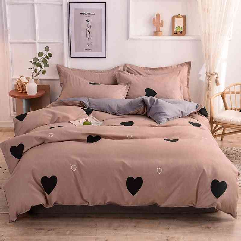 Single Double Queen Size Pillowcase, Bed Sheet Quilt Cover