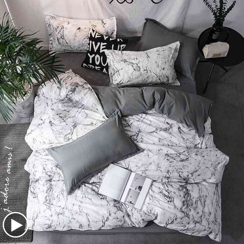 Marble Geometric Duvet Cover Sets With Pillowcase Quilt Bedclothes