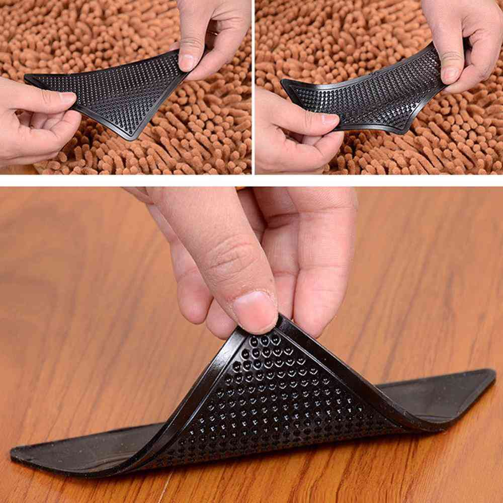 Anti-skid Rubber Mat, Triangle Reusable, Non-slip Patch Mat