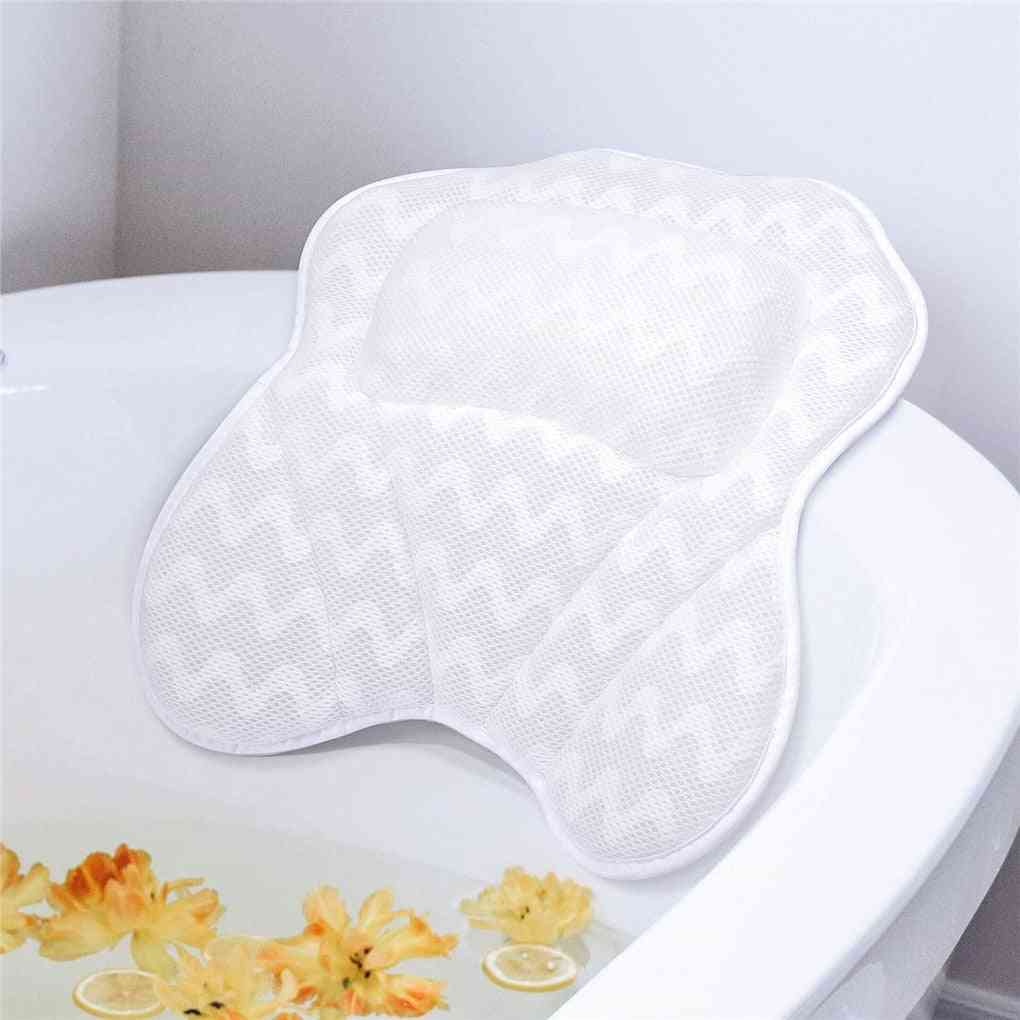 Neck Comfort Bathtub Pillow With Suction Cup