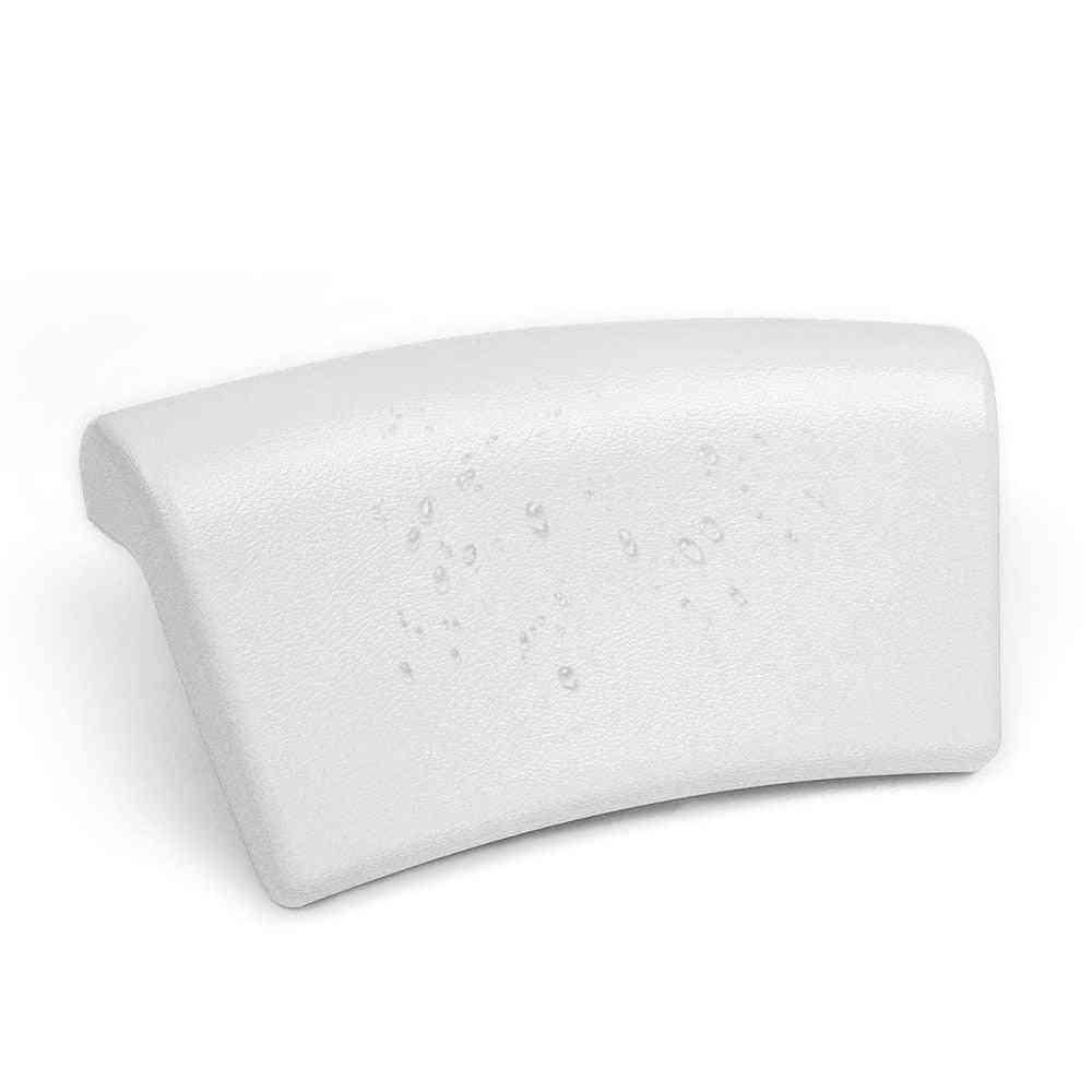 Pu-bath Cushion With Non-slip Suction Cups, Spa Bath Pillow For Home Headrest