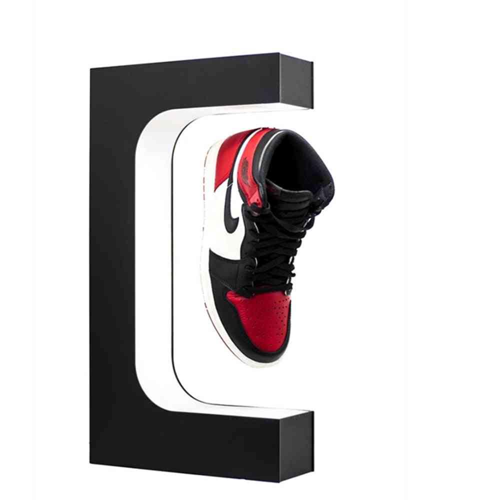 Magnetic Floating Shoe Display, Levitation Stand Holder, Rotating Sneaker Rack With Led Lighting
