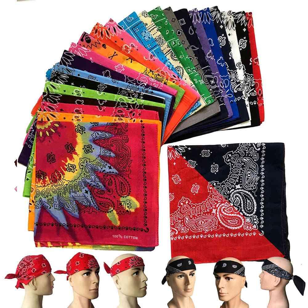 Cotton Blend, Hip-hop Black Bandana, Headwear Headband Scarf