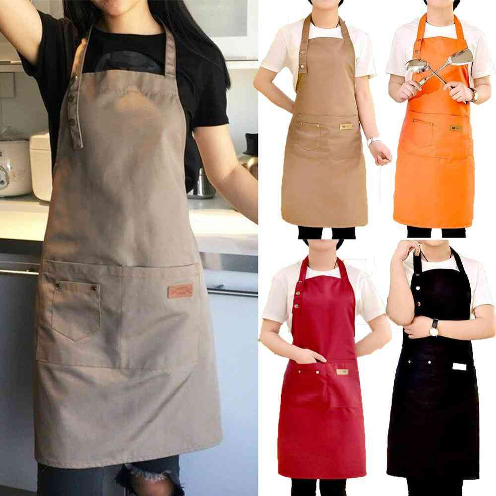 Adjustable Waterproof Stain-resistant With Two Pockets Chef Apron