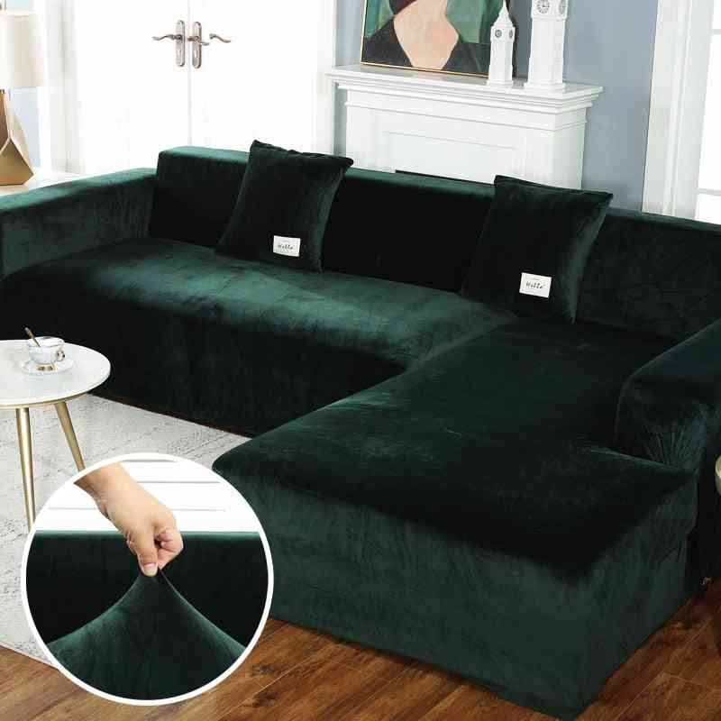 Elastic Leather Corner, Sectional Plush Sofa For Living Room, Couch Covers Set