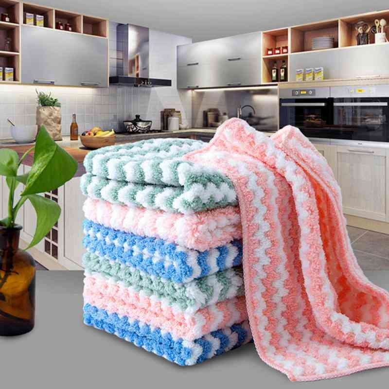 Plush Microfiber Cleaning Cloths Towels - Kitchen Accessories