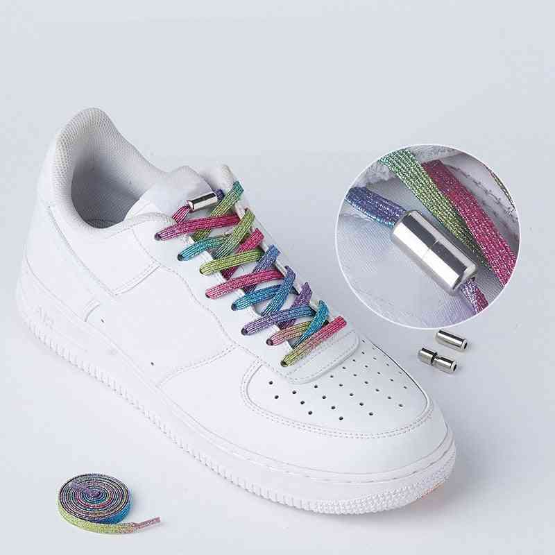 Flats No-tie Sneakers Locking Shoe Laces Strings