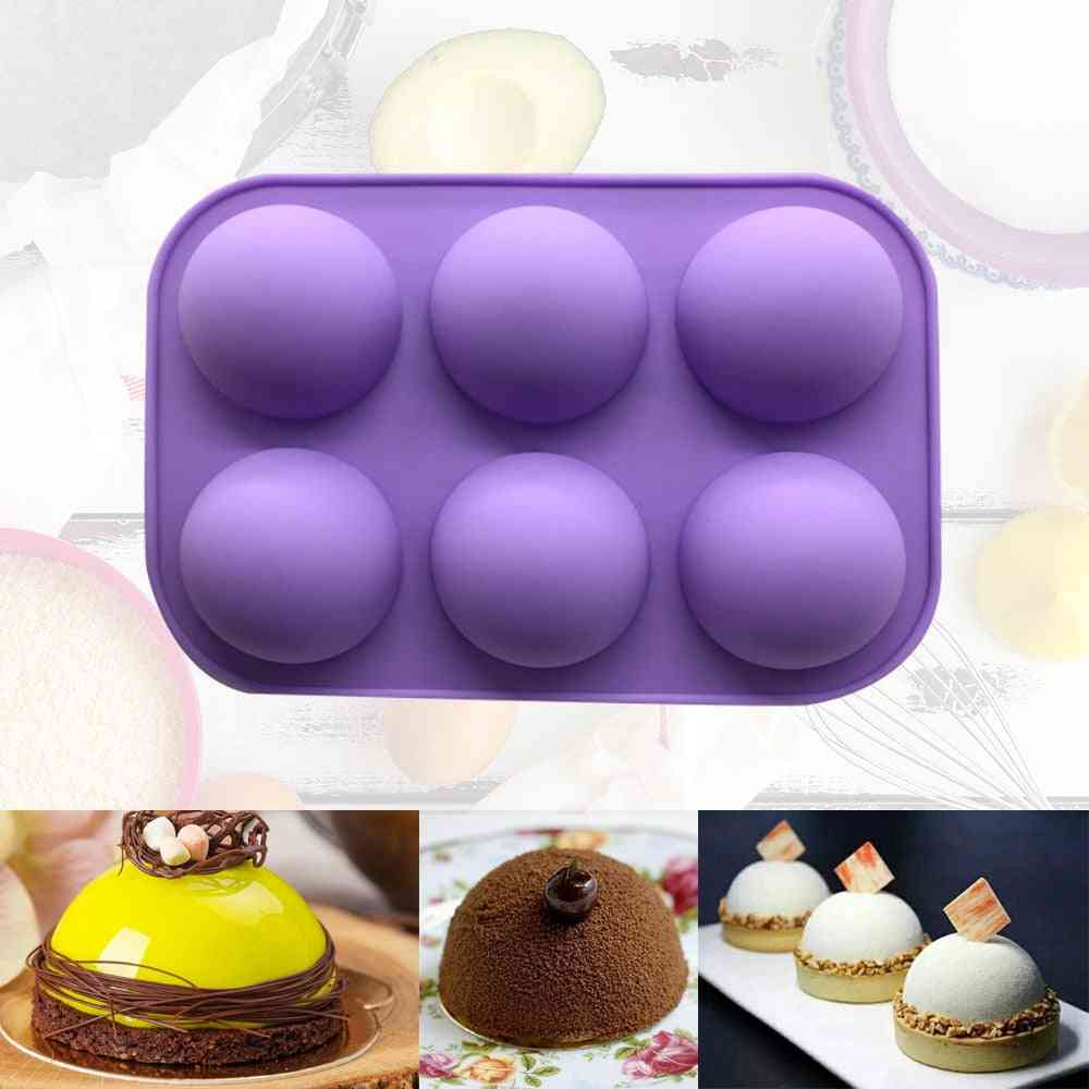 Silicone Soap- Molds, Cake Decorating Pudding Jelly Chocolate Ball Shape Biscuit Tool