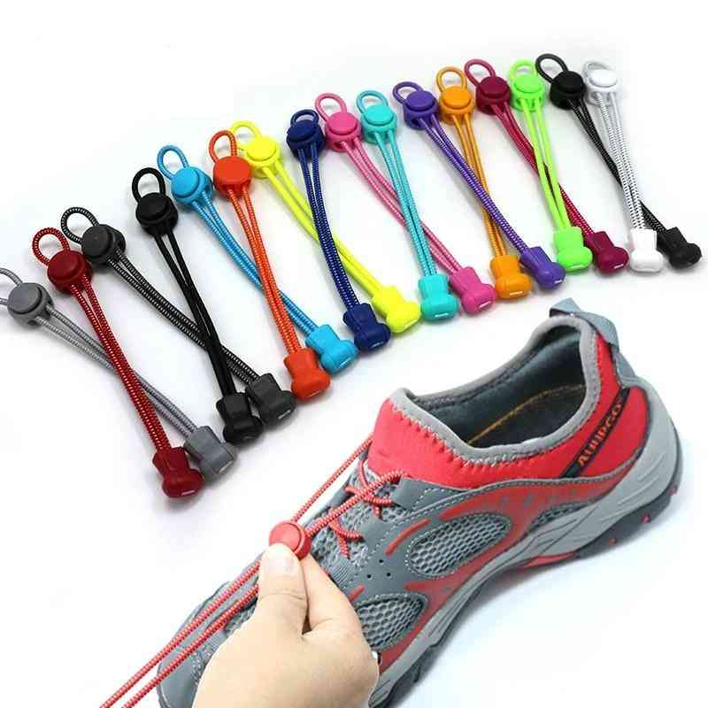 Elastic Round Locking No-tie Shoe Laces For Sneakers