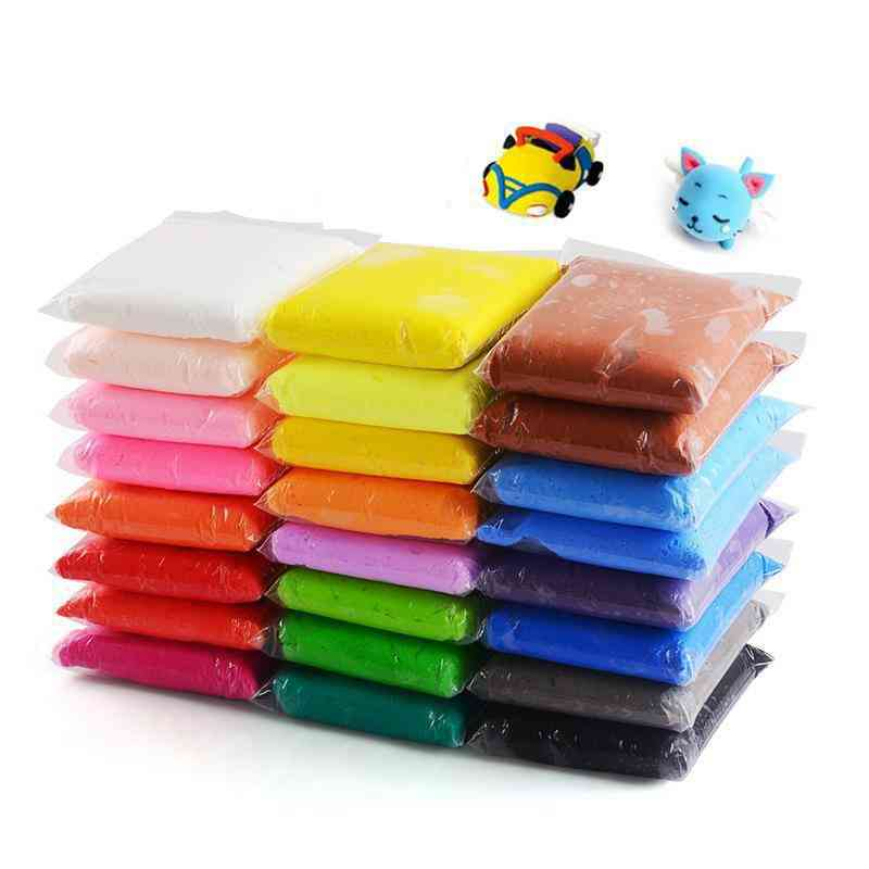 Air Drying- Super Light, Plastic Soft Clay, Dough Colorful Toy (36 Color And 3 Tools)