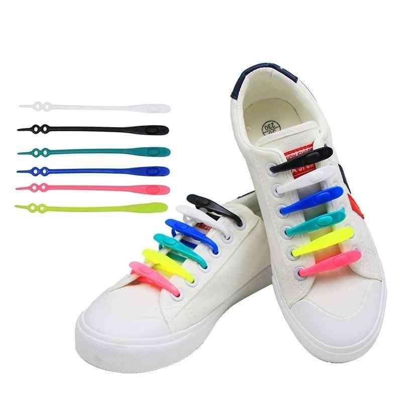 Silicone Round Elastic, No-tie Shoelace Lacing, Rubber Zapatillas, Women
