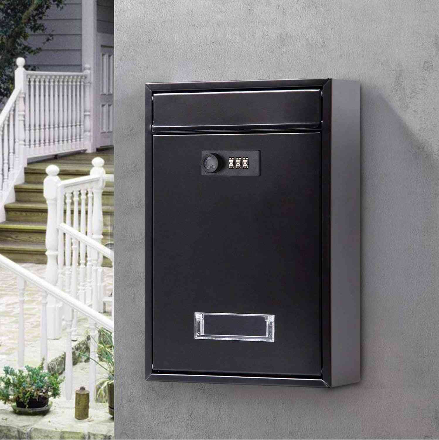 Vintage Wall Mounted Mailbox With Combination Lock