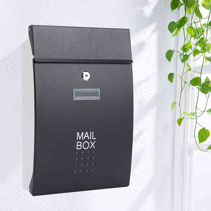 Wall Mounted Stainless Steel Outdoor Warehouse Apartment Home Garden Letterbox
