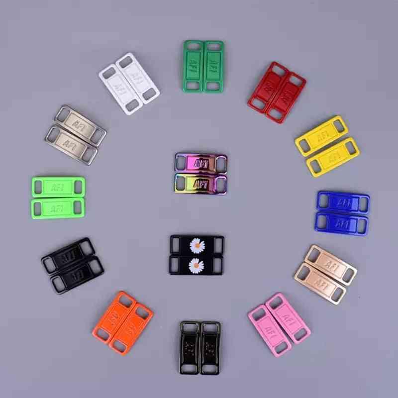 2pcs/pair- Metal Shoelaces, Lock Buckle Accessories